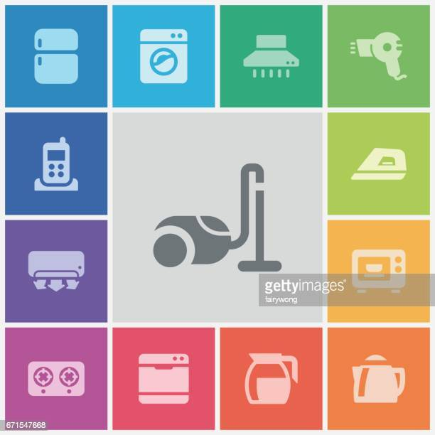 home appliances and electronics icons - medical ventilator stock illustrations, clip art, cartoons, & icons