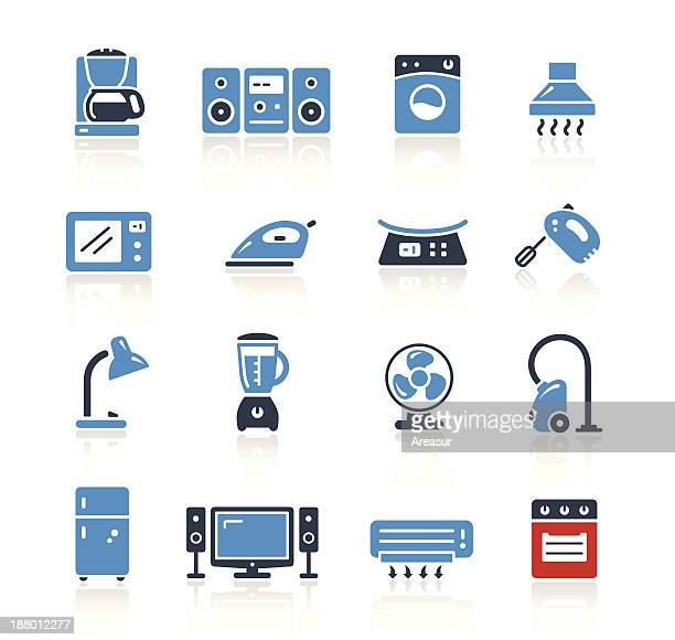 home appliances icons two color | pro series - kitchen scale stock illustrations, clip art, cartoons, & icons