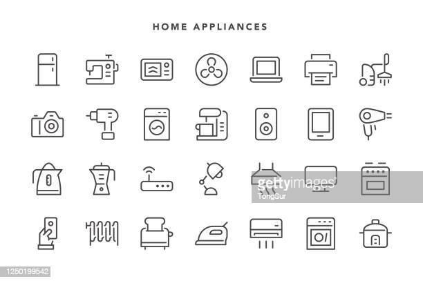 家電アイコン - 家電製品点のイラスト素材/クリップアート素材/マンガ素材/アイコン素材