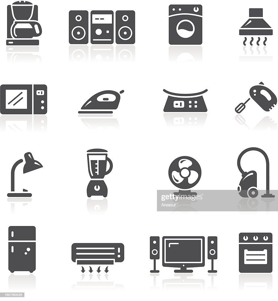 Home Appliances Icons : stock illustration