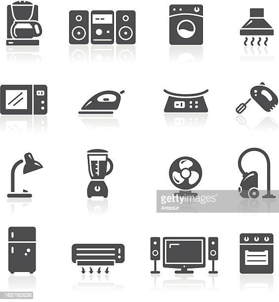 home appliances icons - exhaust fan stock illustrations, clip art, cartoons, & icons