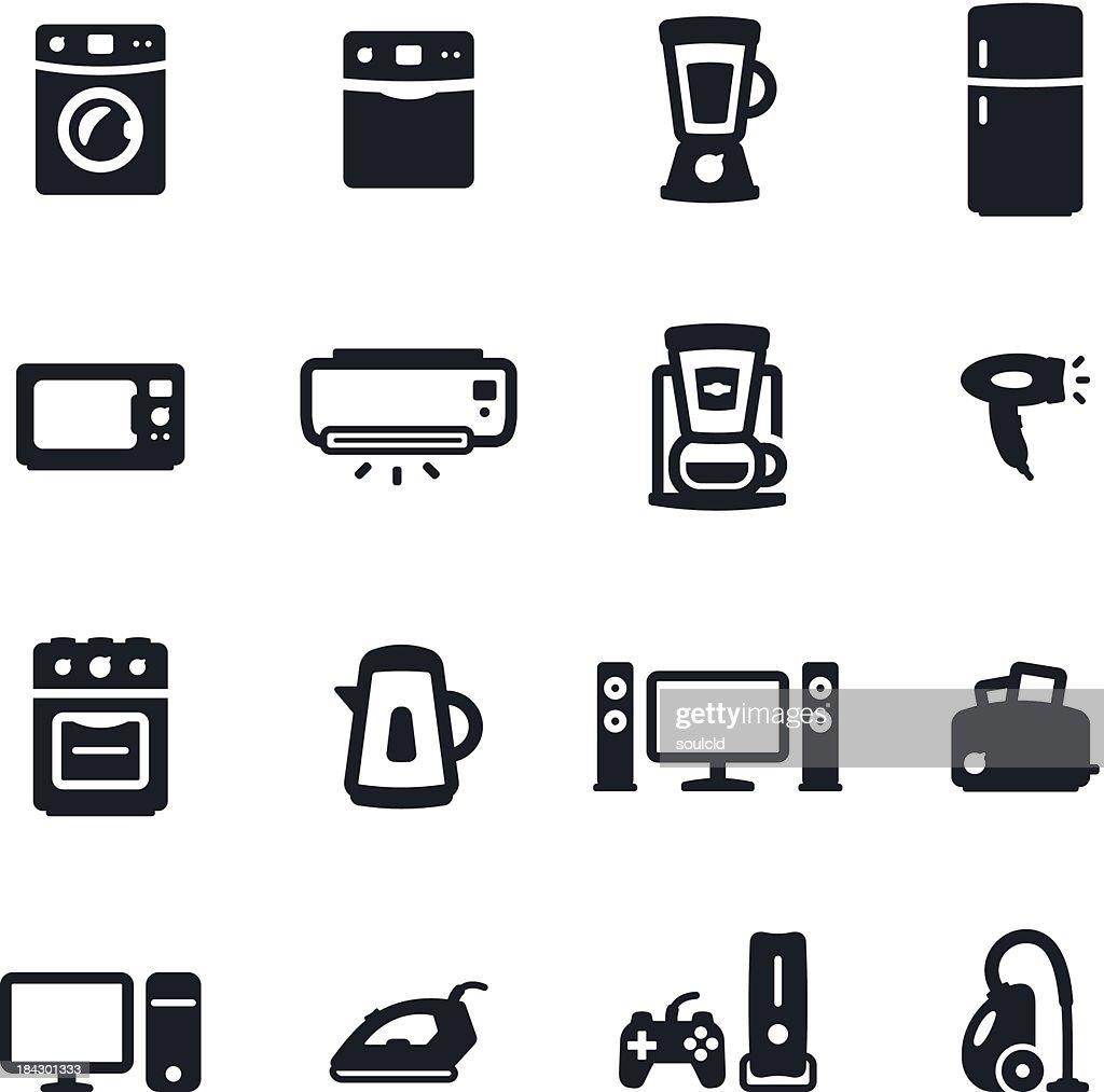 家庭電化製品のアイコン : ストックイラストレーション