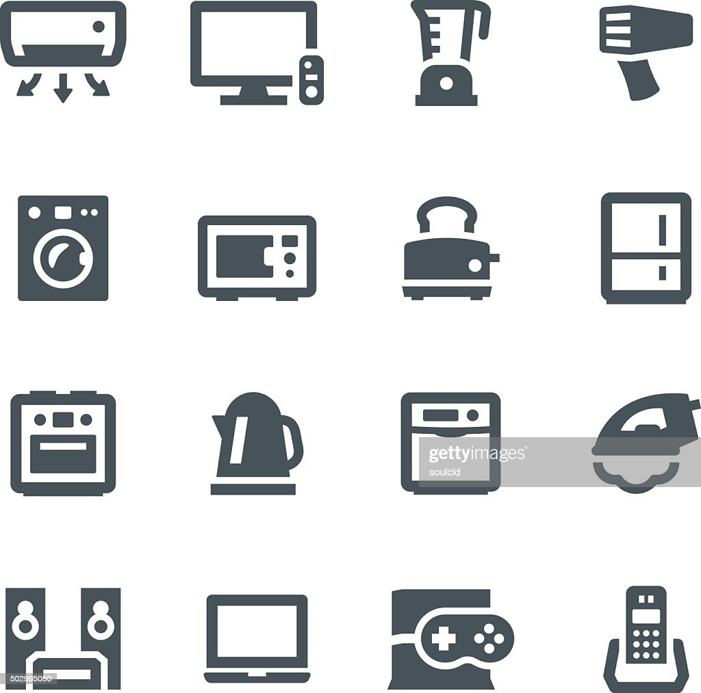 Home Appliances Icons : stock illustration