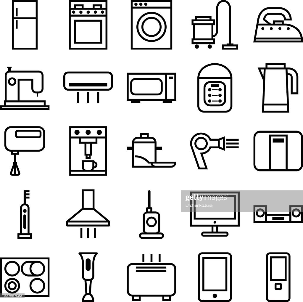 Home Appliances linear icons