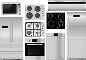 Home appliances: set of household kitchen equipment