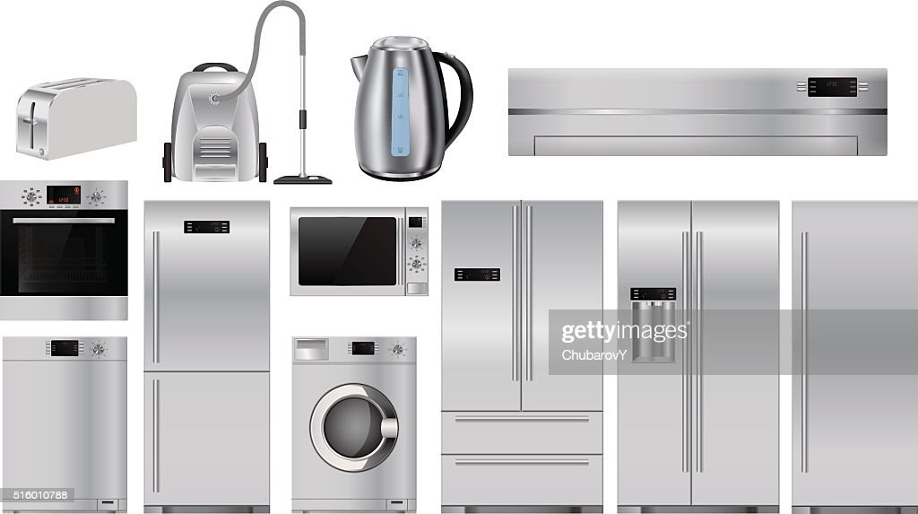 Home appliances. Set of household kitchenware