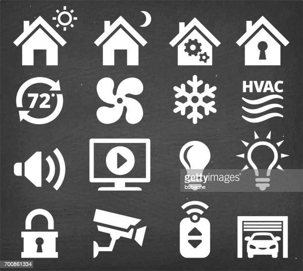 Home Automation and Security interface icon set
