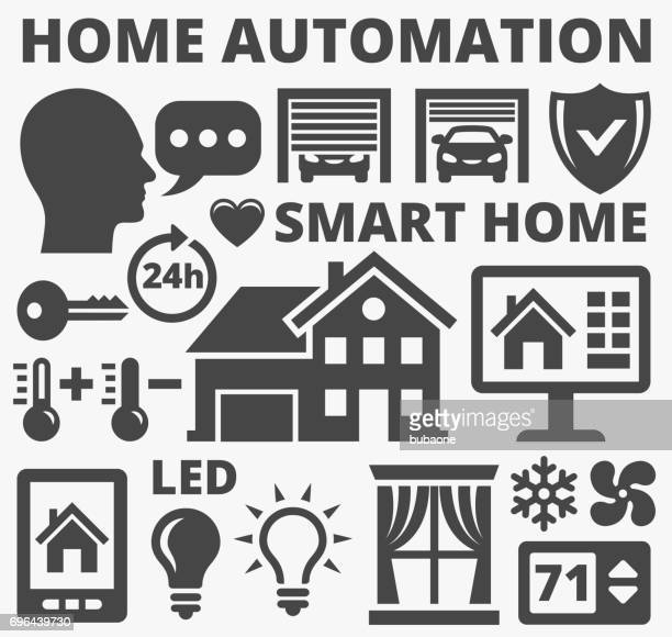 Home Automation and Security Technology Vector Icons