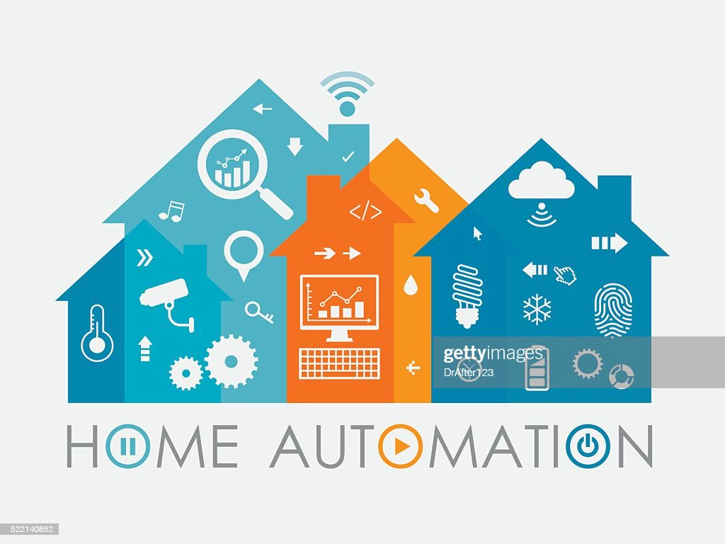 Home Automation Concept Including Icons Set
