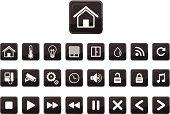 home automation icon set,smart home