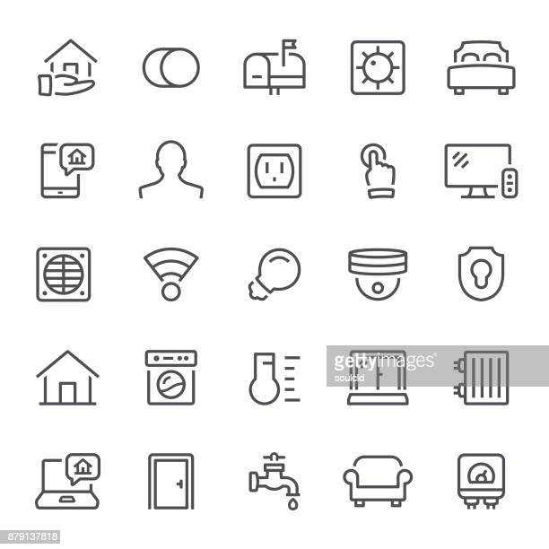 home automation icons - security camera stock illustrations