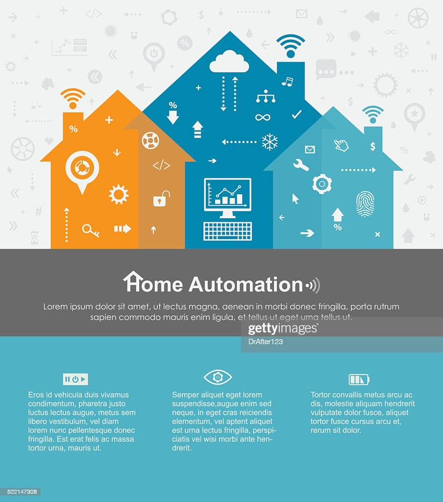 Home Automation Template With Copy Space Text : stock illustration