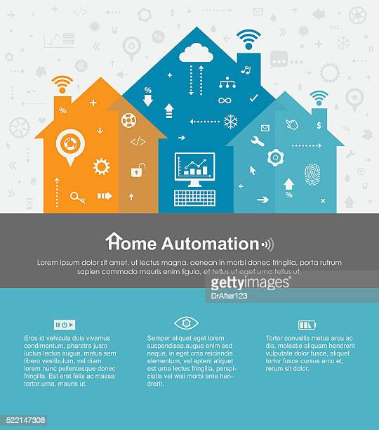 Home Automation Template With Copy Space Text