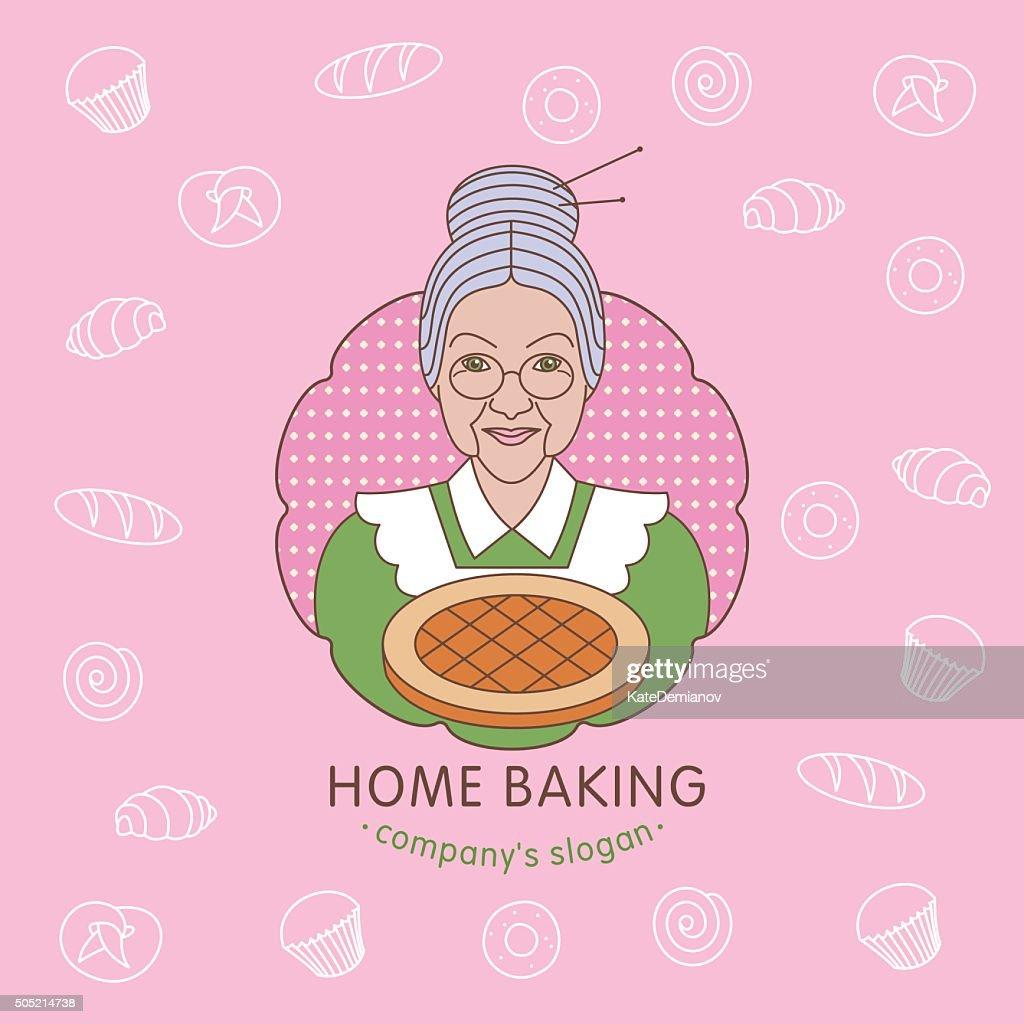 Home bakery. Vector logo.
