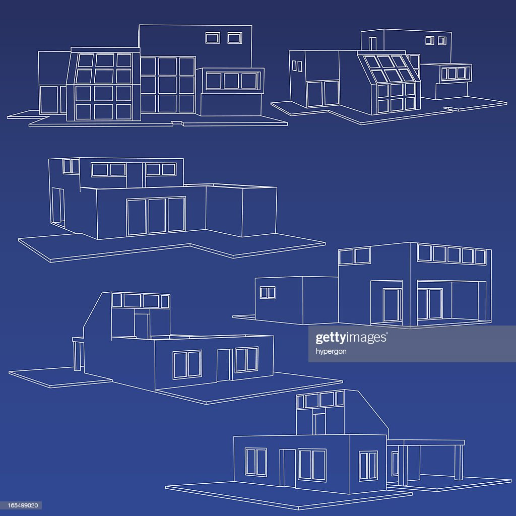 Home blueprint collection vector art getty images home blueprint collection vector art malvernweather Images