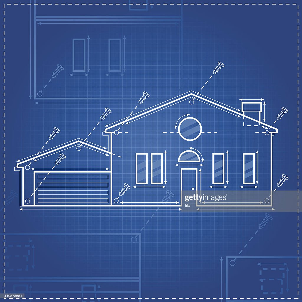 Home blueprint vector art getty images home blueprint vector art malvernweather Gallery