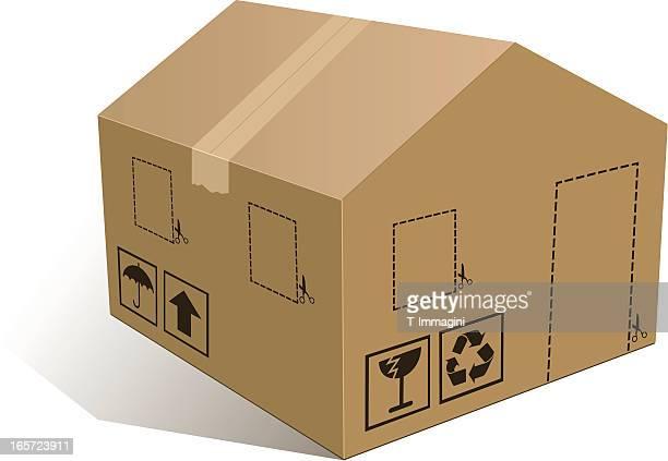 stockillustraties, clipart, cartoons en iconen met home box - breekbaarheid