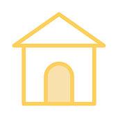 home colour Line Vector Icon