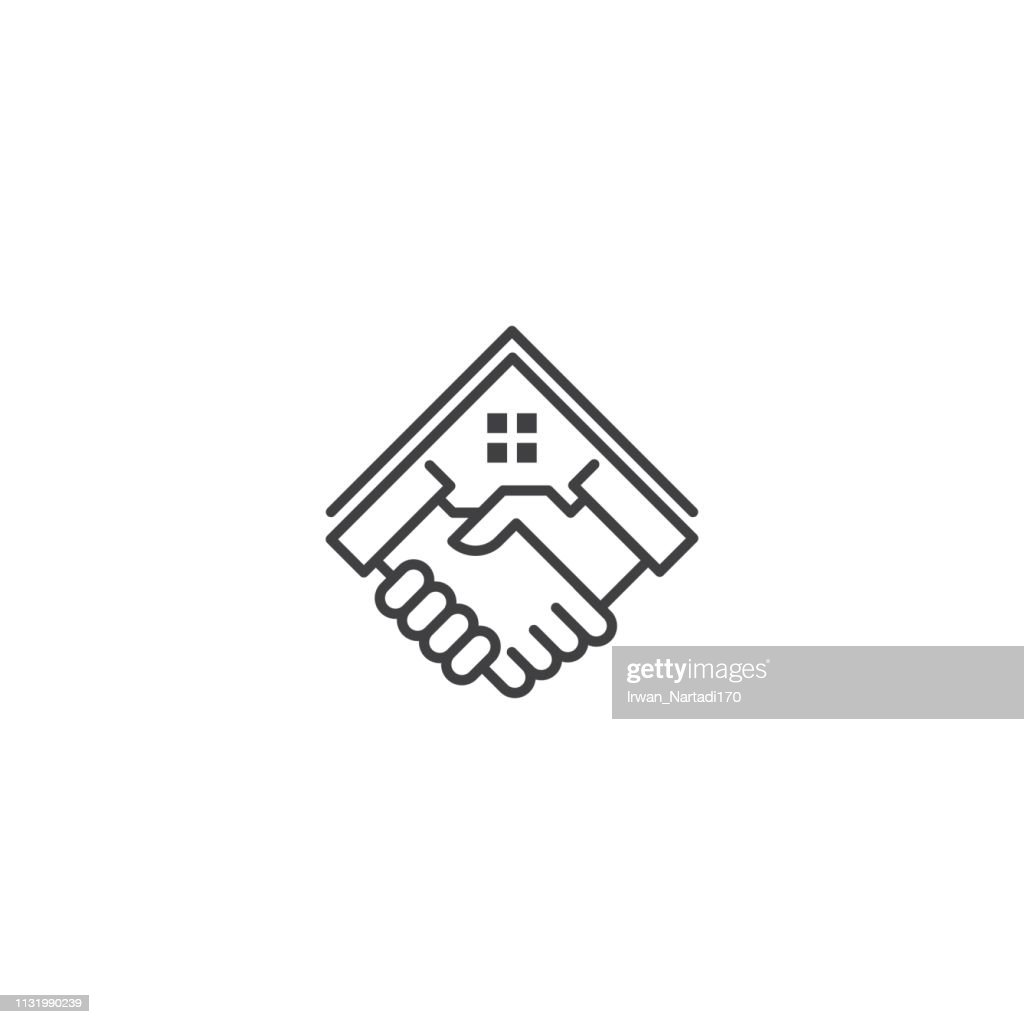 Home deal,house property dealer. Vector icon template