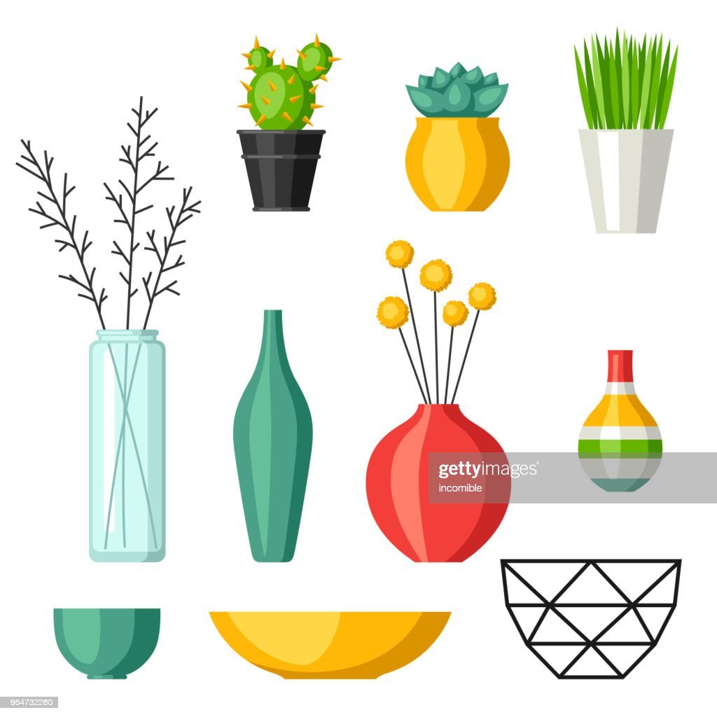 Home decoration vases flower pots, succulents and cacti