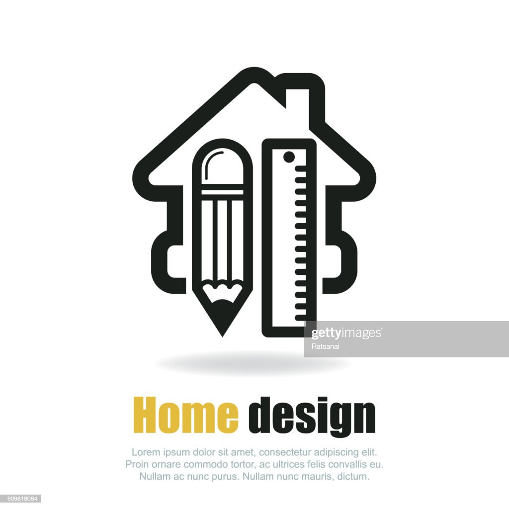 Home Design Icon Vector Art   Getty Images