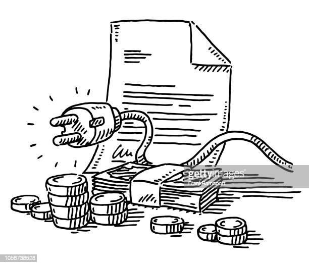 Hause Strom Rechnung Zahlung Zeichnung