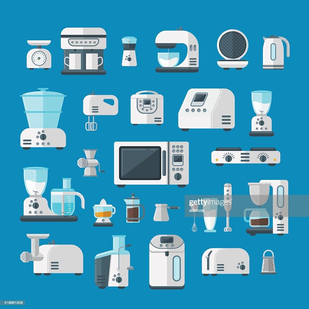 Home electronics appliances elements infographics template concept vector