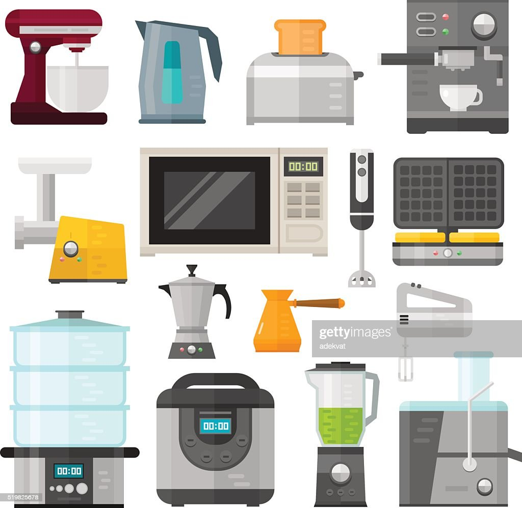 Home electronics appliances elements infographics template concept vector