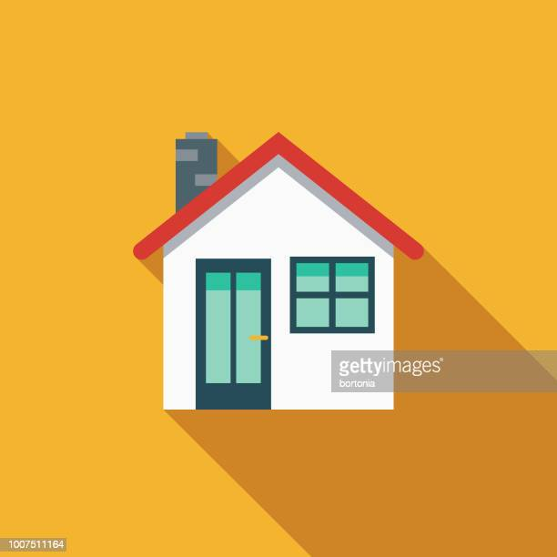 home flat design insurance icon - house stock illustrations