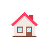 Home Flat Icon. Pixel Perfect. For Mobile and Web.