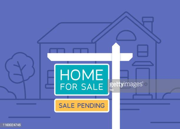 home for sale real estate - human settlement stock illustrations
