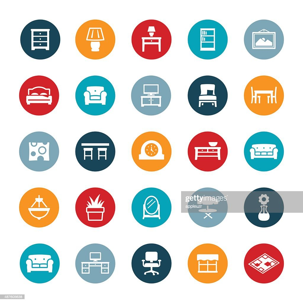 Home Furniture And Decor Icons Vector Art Getty Images Home Decorators Catalog Best Ideas of Home Decor and Design [homedecoratorscatalog.us]