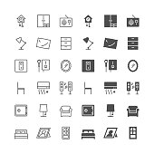 Home furniture icons, included normal and enable state.