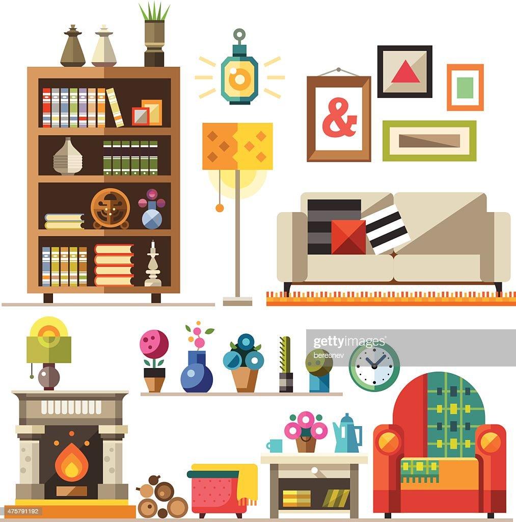 Home furniture. Interior design