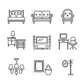 Home furniture signs set