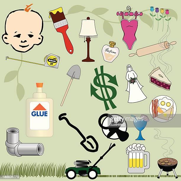 Home & Garden (vector image)