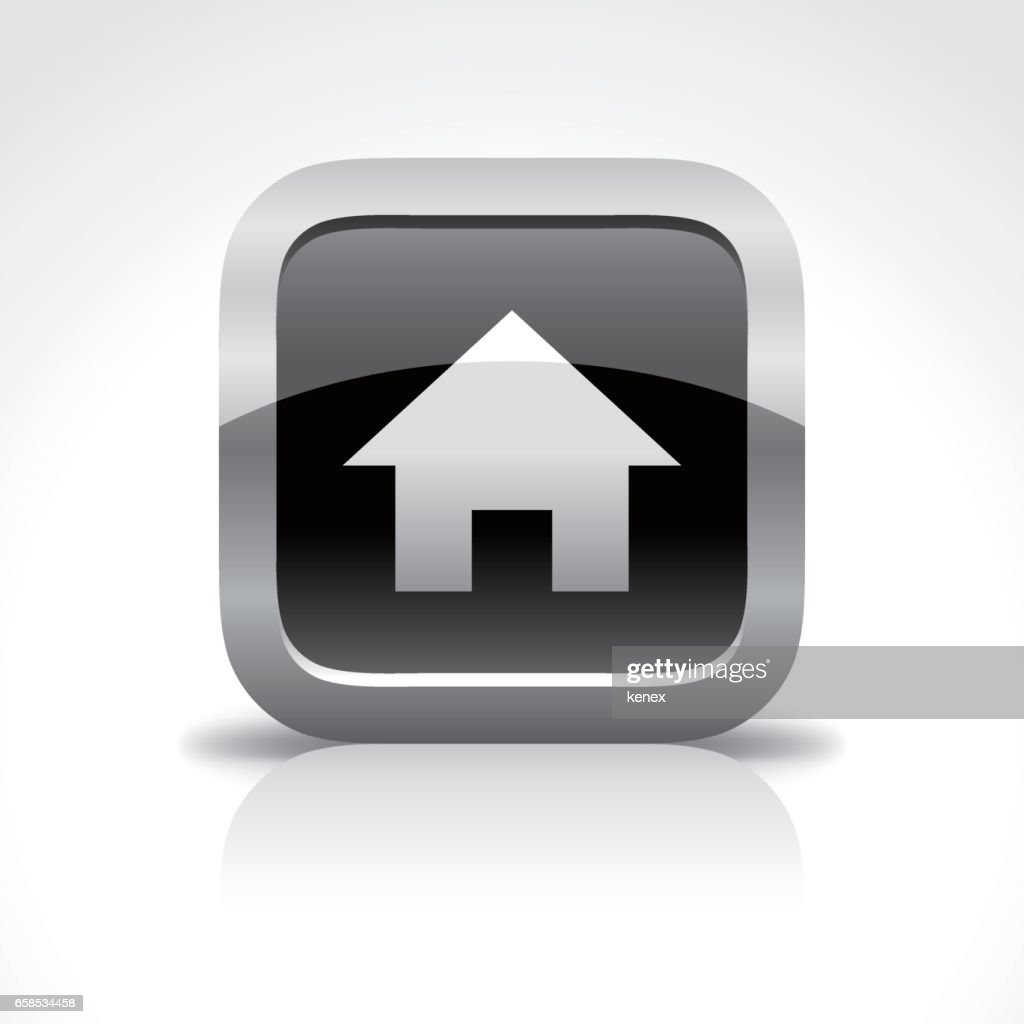 Home Glossy Button Icon