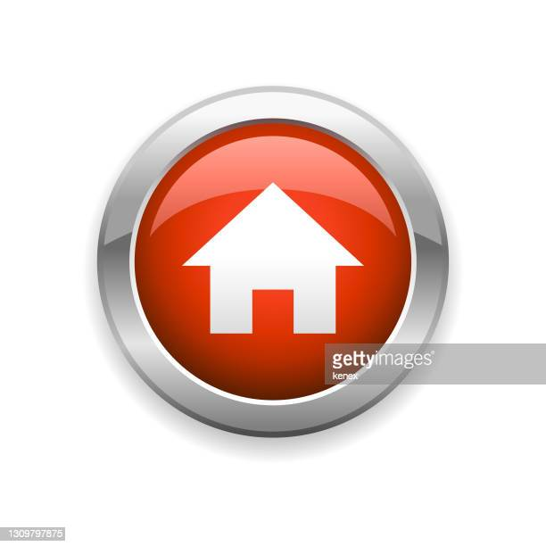 home glossy icon - mortgage stock illustrations