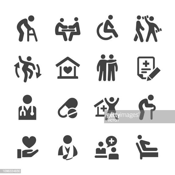 home health care icons - acme series - assistant stock illustrations, clip art, cartoons, & icons