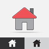 Home House Vector Icon Flat Design