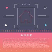 Home icon design on modern flat background