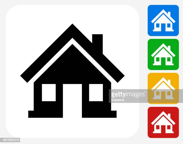 home icon flat graphic design - bungalow stock illustrations, clip art, cartoons, & icons