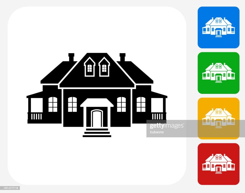 Home Icon Flat Graphic Design : stock illustration