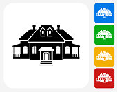 Home Icon Flat Graphic Design