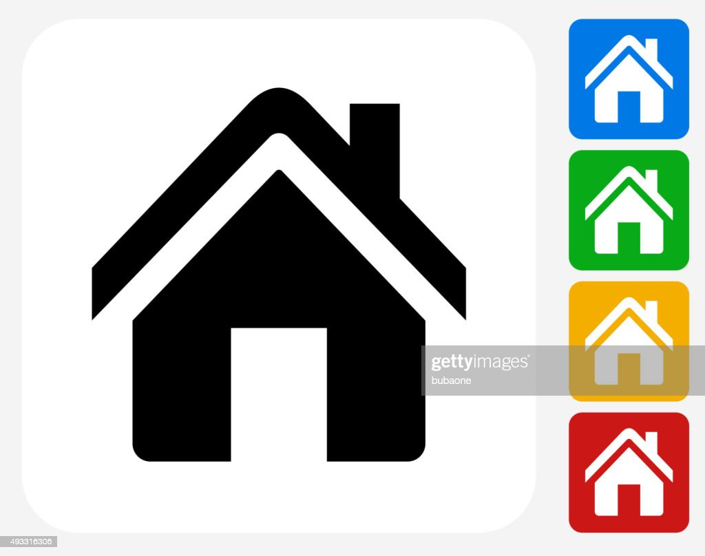 Home Icon Flat Graphic Design Vector Art | Getty Images