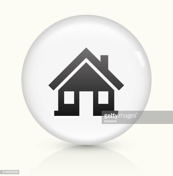 home icon on white round vector button - bungalow stock illustrations, clip art, cartoons, & icons