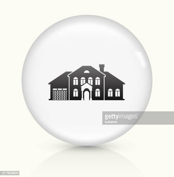 Home icon on white round vector button
