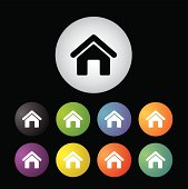 home icon set