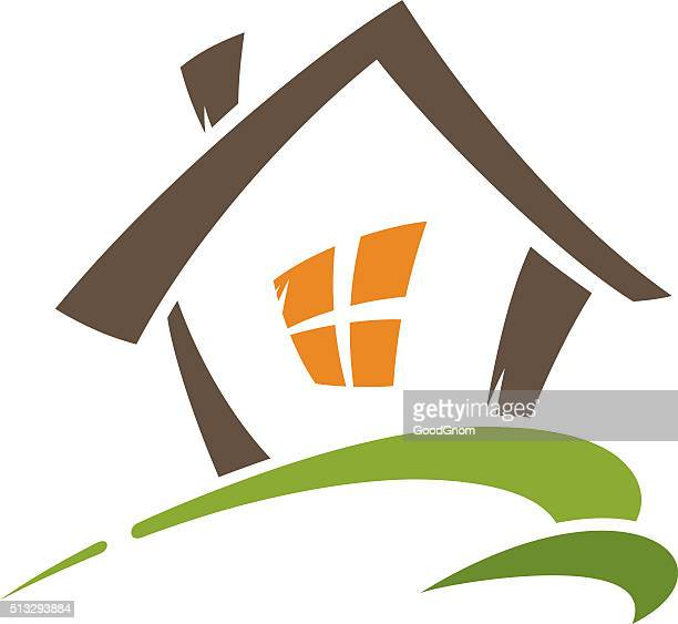 home icon - hut stock illustrations