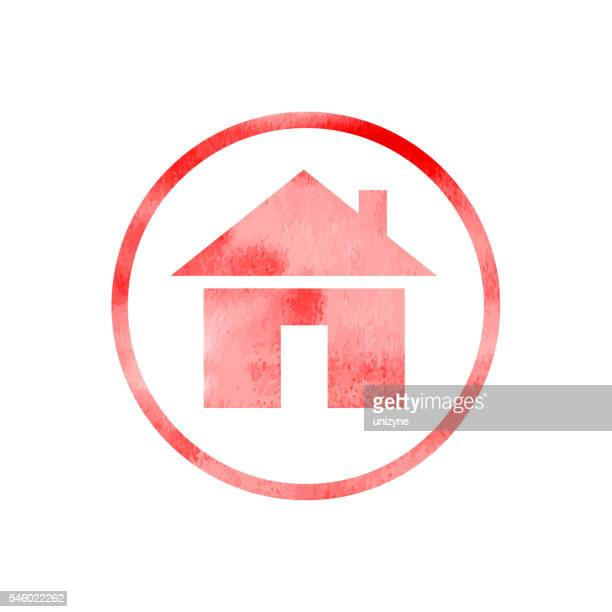 home icon with texture. - homepage stock illustrations